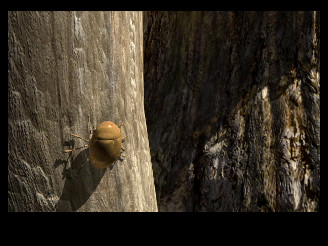Riven: The Sequel to Myst Macintosh On the gate entrance to the jungle we see a beetle that flies away when we touch it