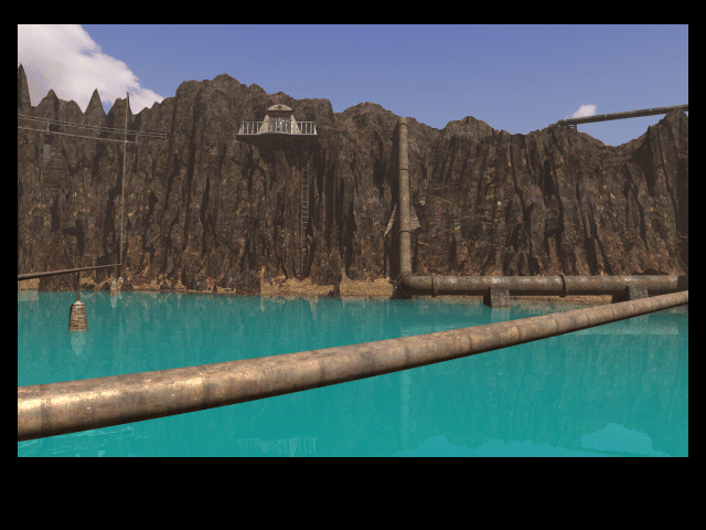 Riven: The Sequel to Myst Macintosh Another structure high a top crater island