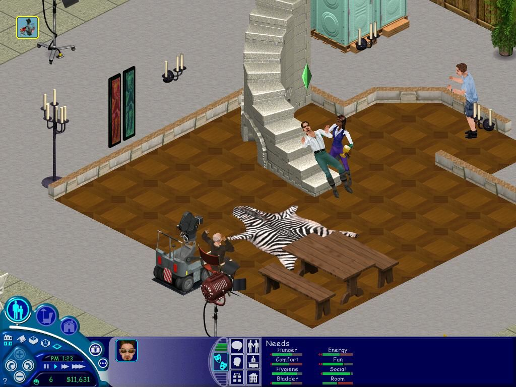 The Sims: Superstar Windows Here's the next scene, with me dying.  The director hated my acting.