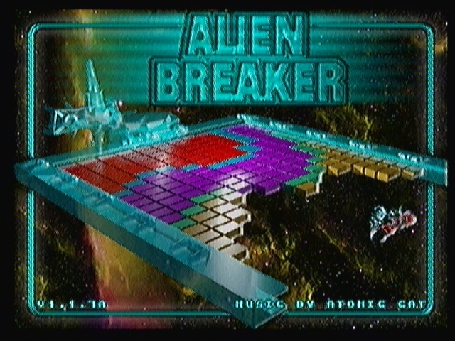 Alien Breaker Zeebo Title screen.