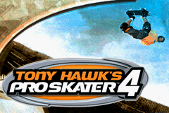Tony Hawk's Pro Skater 4 Game Boy Advance Title Splash
