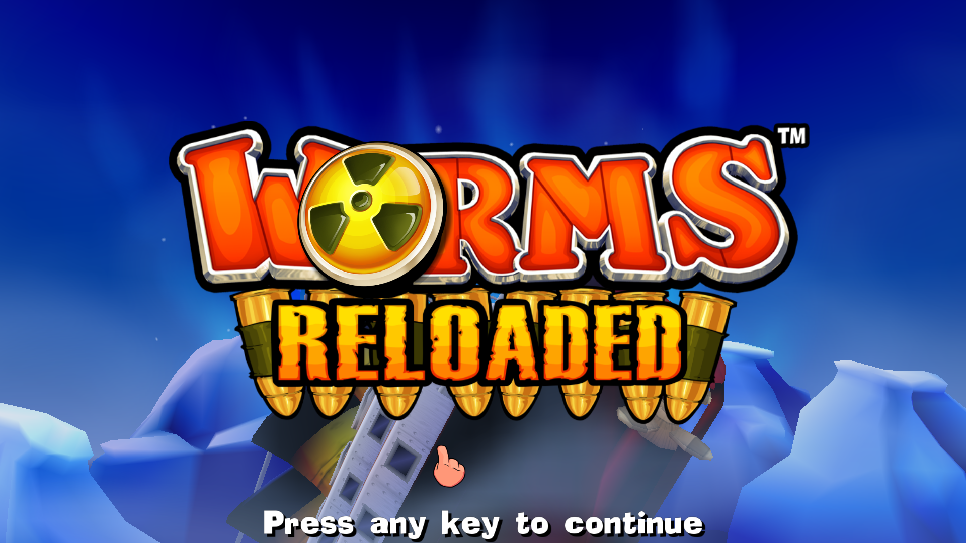 Worms: Reloaded Windows Title Screen
