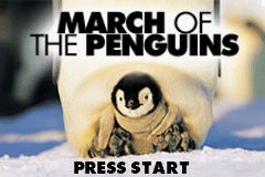 March of the Penguins Game Boy Advance Title screen