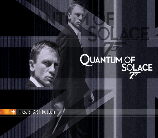 007: Quantum of Solace PlayStation 2 Title screen.