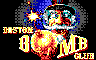 Boston Bomb Club DOS Title Screen (EGA)