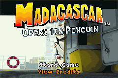 Madagascar: Operation Penguin Game Boy Advance Title screen