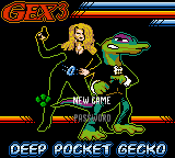 Gex 3: Deep Pocket Gecko Game Boy Color Main Menu