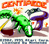Centipede Game Boy Color Title shown in intro sequence