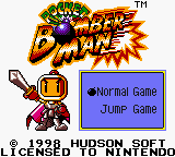 Pocket Bomberman Game Boy Color Main Menu
