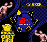 Knockout Kings Game Boy Color Main Menu