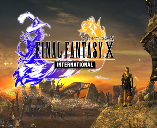 Final Fantasy X International PlayStation 2 Title screen.