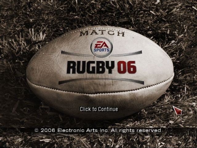 Rugby 06 Windows Title Screen