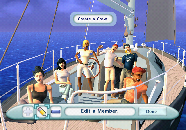 The Sims 2: Castaway PlayStation 2 My current crew: up to 6 Sims can be included.