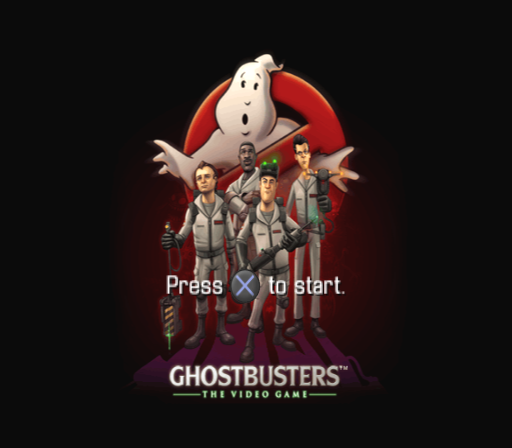 Ghostbusters: The Video Game PlayStation 2 Title screen.