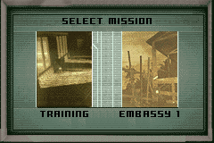 Tom Clancy's Splinter Cell: Pandora Tomorrow Game Boy Advance Selecting the next mission to play