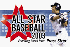 All-Star Baseball 2003 Game Boy Advance Title screen
