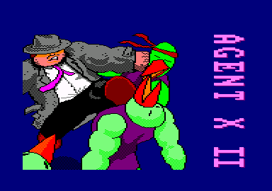 Agent X II: The Mad Prof's Back! Amstrad CPC Loading screen