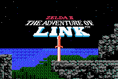Zelda II: The Adventure of Link Game Boy Advance Title Screen