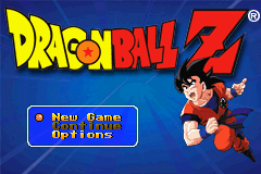 Dragon Ball Z: The Legacy of Goku Game Boy Advance Main Menu