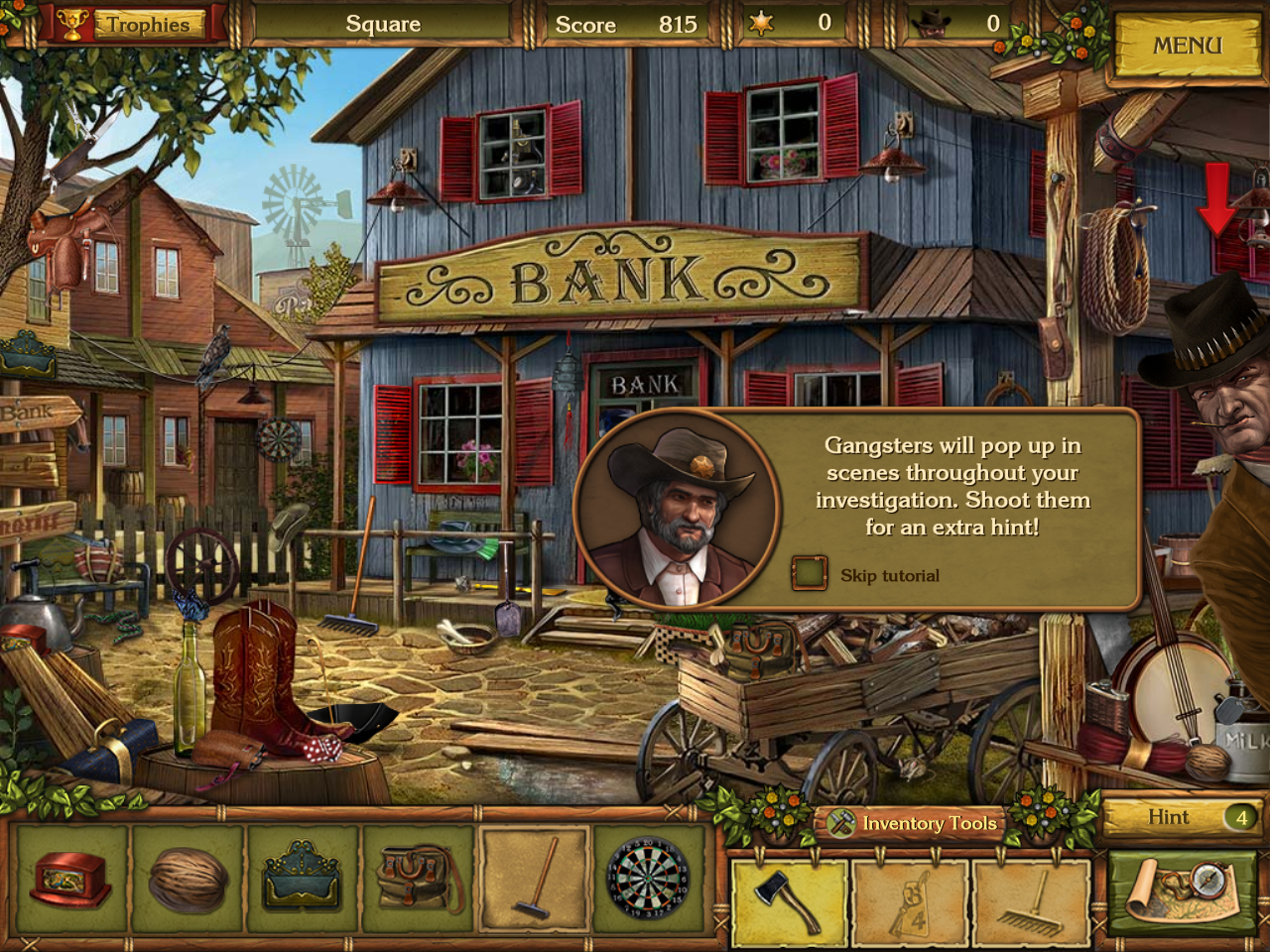 Golden Trails: The New Western Rush Windows Shooting the bandit for extra hints.