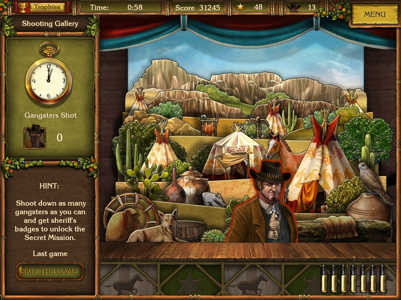 Golden Trails: The New Western Rush Windows Shooting gallery