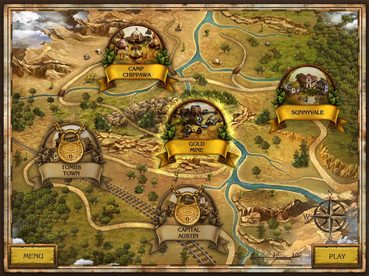 Golden Trails: The New Western Rush Windows Locations