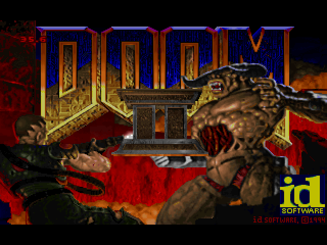 DOOM II Macintosh Game title screen