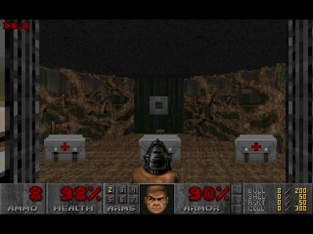 DOOM II Macintosh Health and ammo before next level