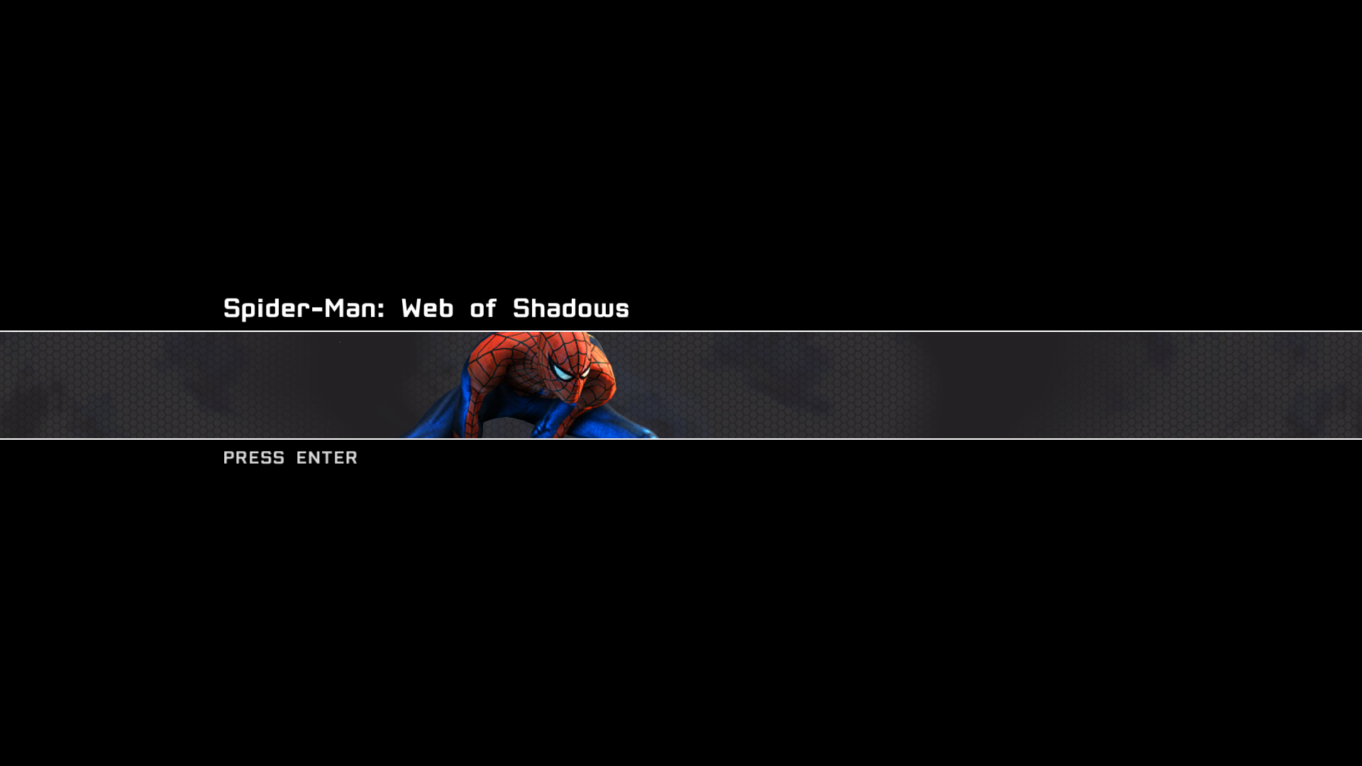 Spider-Man: Web of Shadows Windows Title Screen