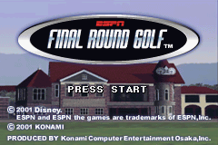 ESPN Final Round Golf 2002 Game Boy Advance Title screen