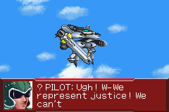 Super Robot Taisen: Original Generation 2 Game Boy Advance The enemy pilot before the impact