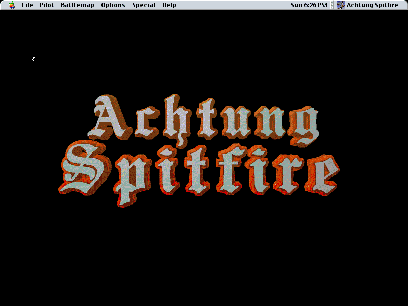 Achtung Spitfire Macintosh Title