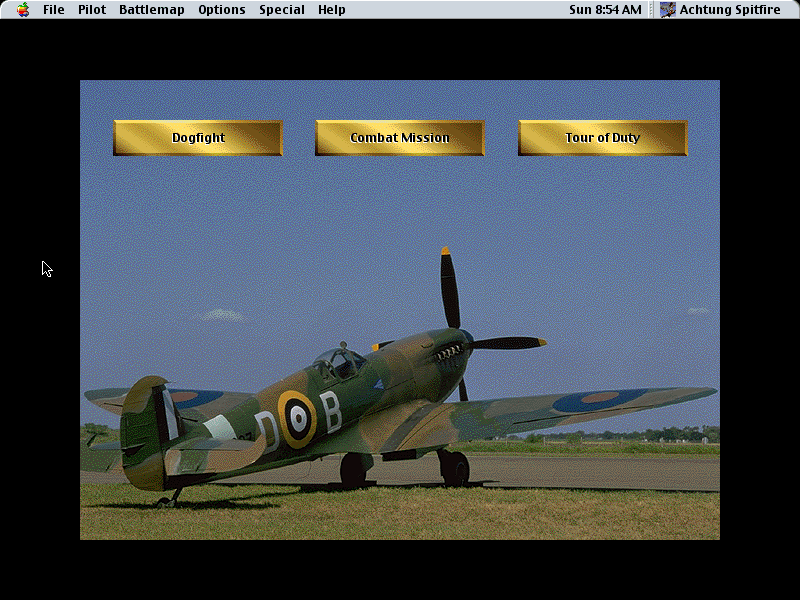 Achtung Spitfire Macintosh Mission type