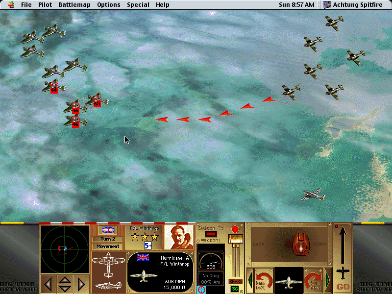 Achtung Spitfire Macintosh In range and better position increases hit ratio of target