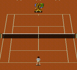 Final Match Tennis TurboGrafx-16 Against the machine