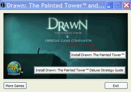 Drawn: The Painted Tower (Morrisons Edition) Windows Install screen