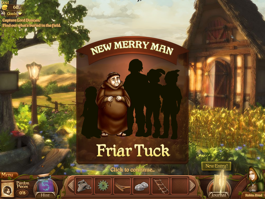 Robin's Quest: A Legend Born Windows Friar Tuck joining the Merry Men.