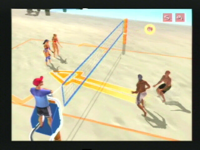 Summer Heat Beach Volleyball PlayStation 2 The arrow tells me it's coming right at me