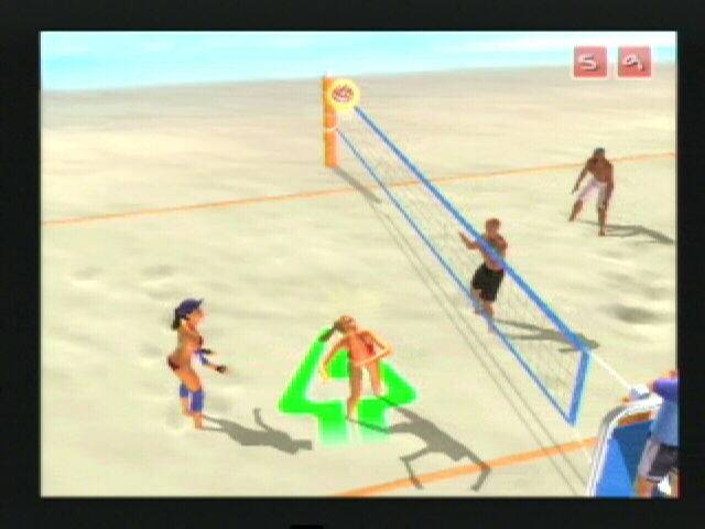 Summer Heat Beach Volleyball PlayStation 2 My partner sets me up for a spike
