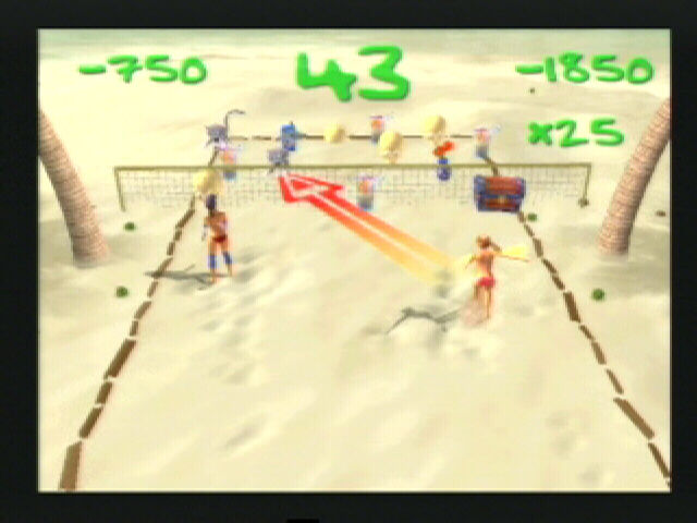 Summer Heat Beach Volleyball PlayStation 2 One of the mini-games, Nerd Smash, try and get as many points as you can