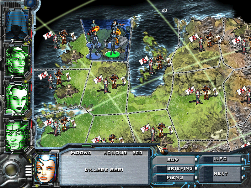 Times of Conflict Windows The campaign map. Before a battle can begin the player must move their character to a neighbouring district