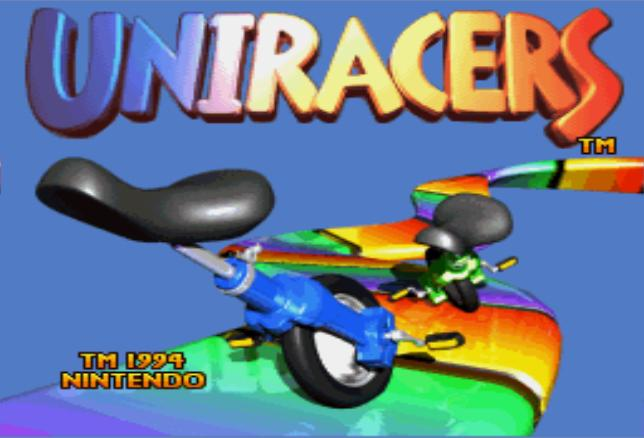 Uniracers SNES Intro Screen