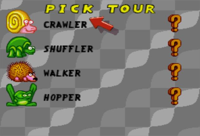 Uniracers SNES Select Your Tour