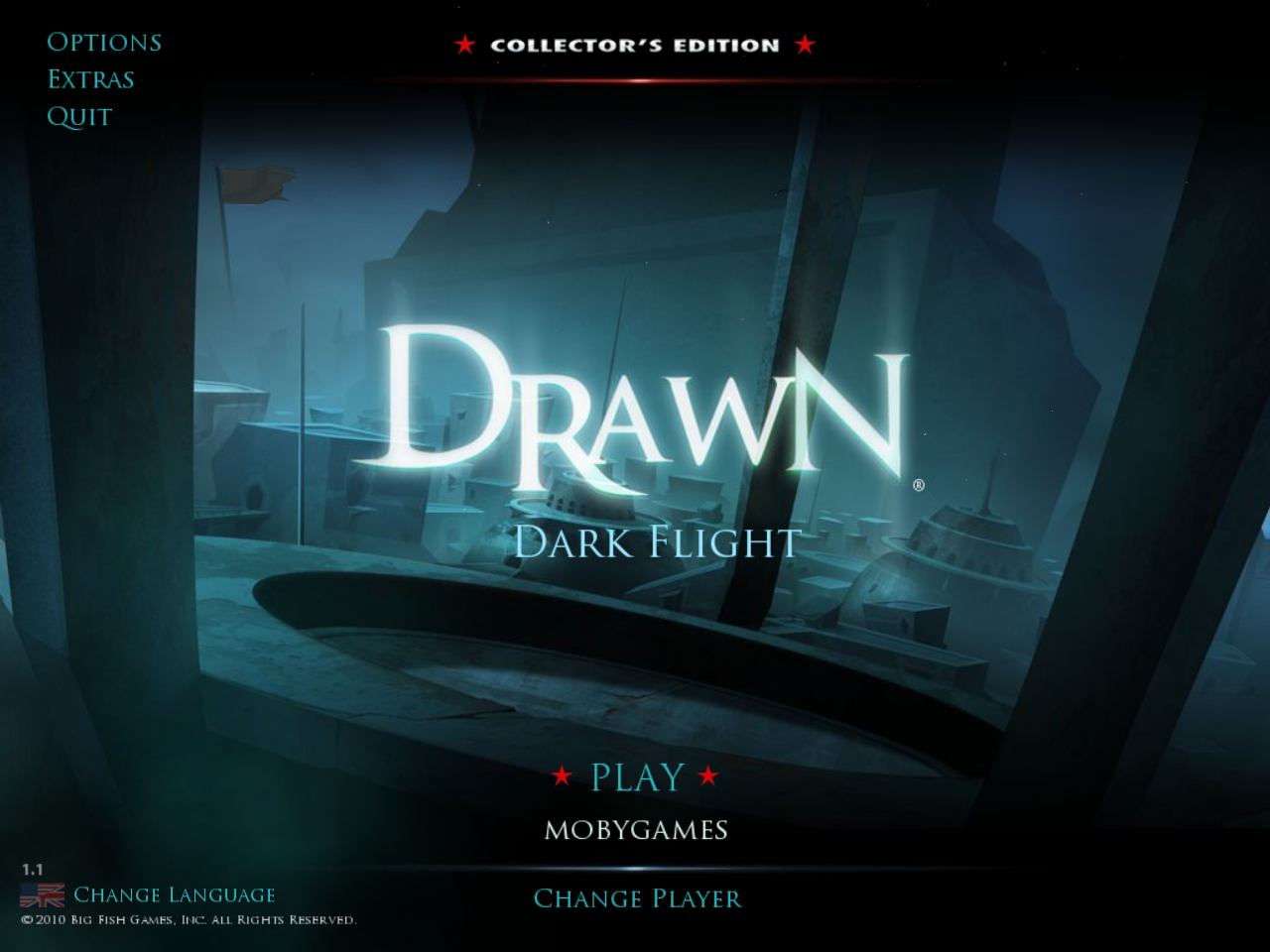 Drawn: Dark Flight (Collector's Edition) Windows Main menu