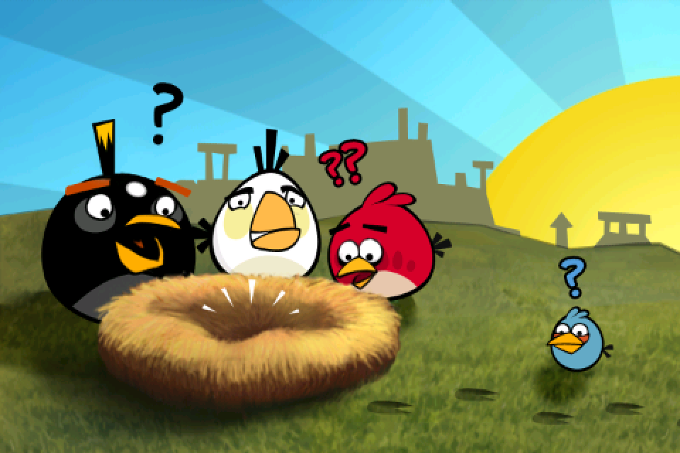 Angry birds iphone where are the birds eggs