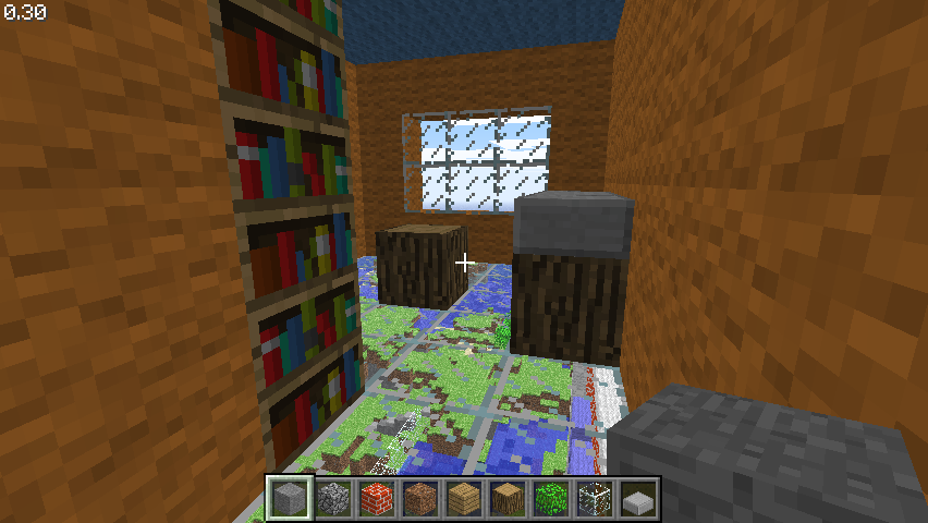 Minecraft Classic Browser a room of a house high up in the sky with a glass floor