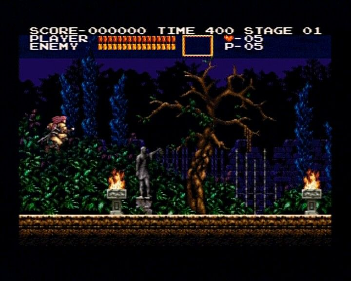 Castlevania Chronicles PlayStation (Arrange Mode) First stage before you enter the castle serves to get some better weapons and items.
