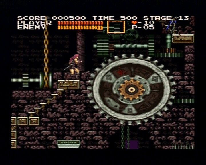 Castlevania Chronicles PlayStation (Arrange Mode) In case it wasn't obvious, this is the clocktower stage.