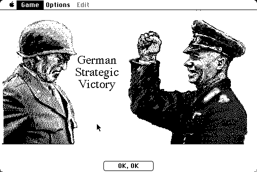 Patton vs Rommel Macintosh Game - Rommel(computer) wins this one
