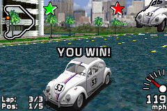 Disney's Herbie: Fully Loaded Game Boy Advance Victory